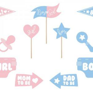 """Set 11 Sabloane Foto Props Gender Reveal, """"Girl or Boy"""""""