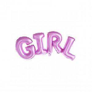 "Balon cuvant ""Girl"" roz 100 x 36 cm"