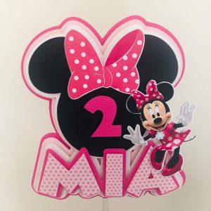Topper tort personalizat, Minnie Mouse