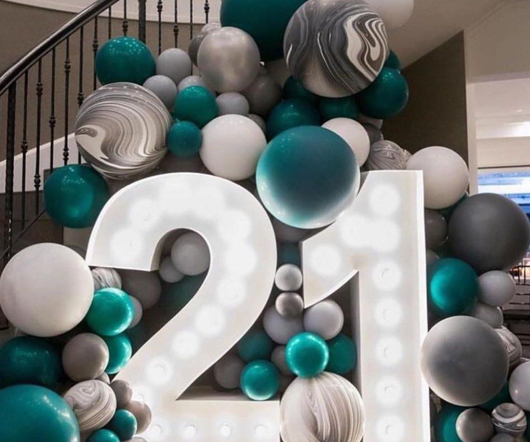 Photocorner baloane și cifre luminoase
