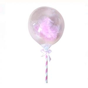 Balon latex topper tort, pene roz, 13cm, 3 buc