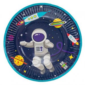 Set 6 farfurii Space Party Astronaut 18 cm