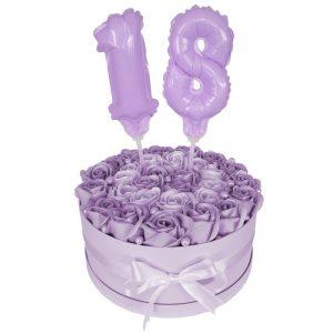 Balon topper tort, cifra, lila macaron, 13cm