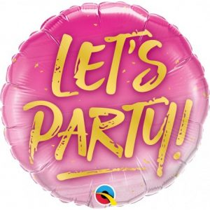 Balon Folie Let's Party! rotund roz 45 cm