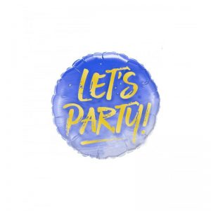 balon-folie-lets-party-rotund-albastru-45-cm