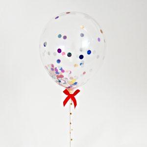 Balon latex topper tort confetti 13cm 3 buc