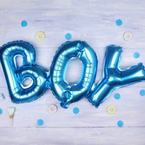 balon-cuvant-boy-bleu-95-x-36-cm