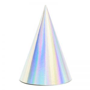 Set 6 coifuri, iridiscent, 16cm